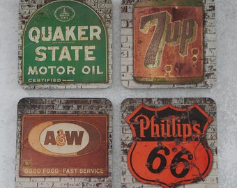 Vintage Photography Coasters - Vintage Signs - The Modern Angle - Set of Coasters