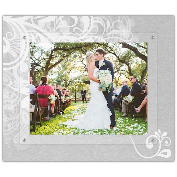Wedding Flourish Picture Frame 11x14 Landscape Wedding Photo Etsy