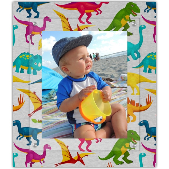 Dinosaurs For Boys Room 8x10 Portrait Photo Frame Dinosaur Etsy