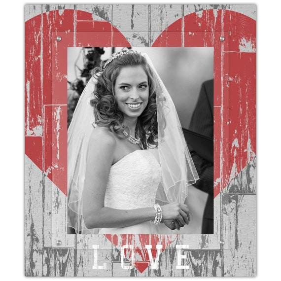 Rustic Heart Wedding Picture Frame 11x14 Portrait Photo Etsy