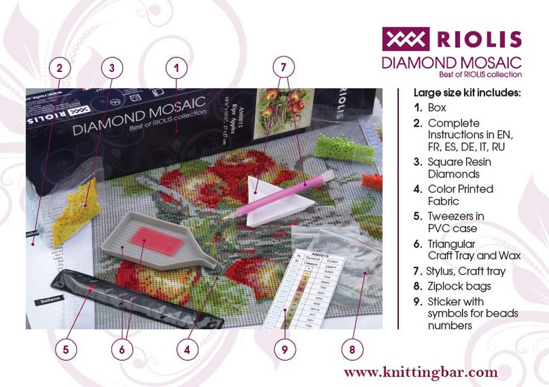 Diamond painting kit Still Life with Lemon AM0026 by RIOLIS