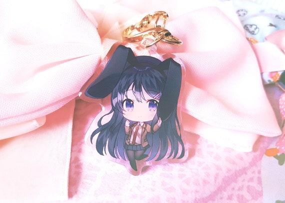 3pcs Rascal Does Not Dream of Bunny Girl Senpai Mai Sakurajima Keychain Pendant