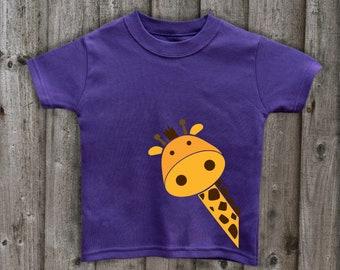 8afade10 Giraffe t shirt kids animal top unisex kids tees soft cotton tops great  clothing gifts for kids boy girl t shirt IndaBayi made in uk