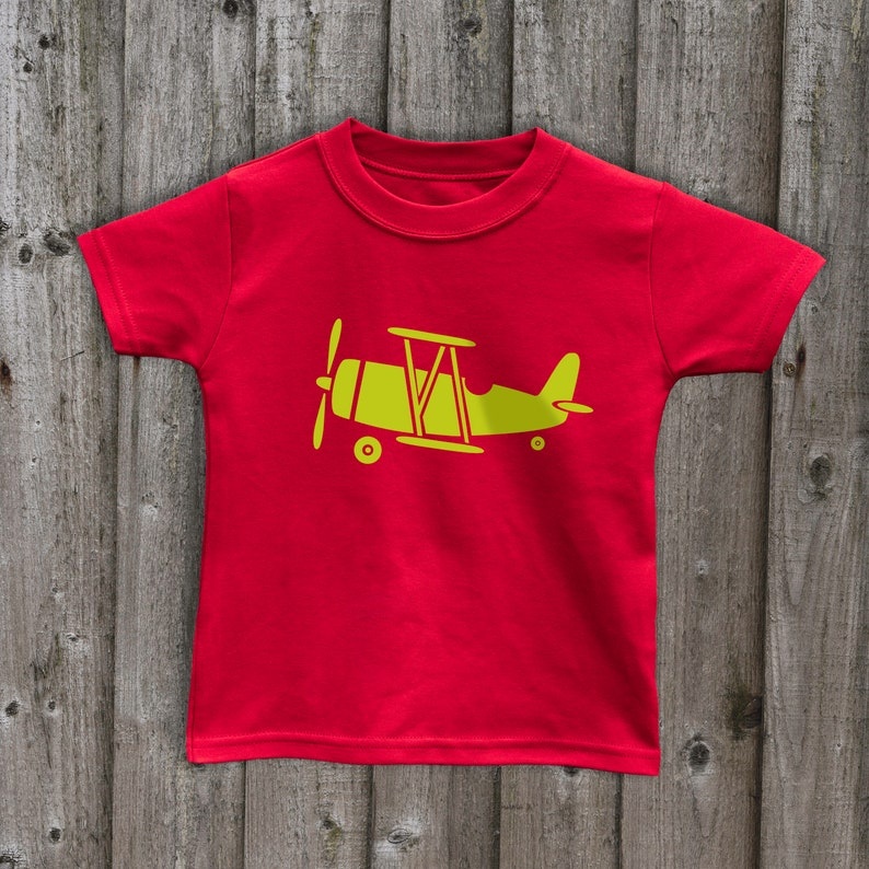 Biplane tops planes Kids t shirts Handmade tops transport boys clothing  girls aviation tops Great gifts for kids Made in uk plane tops