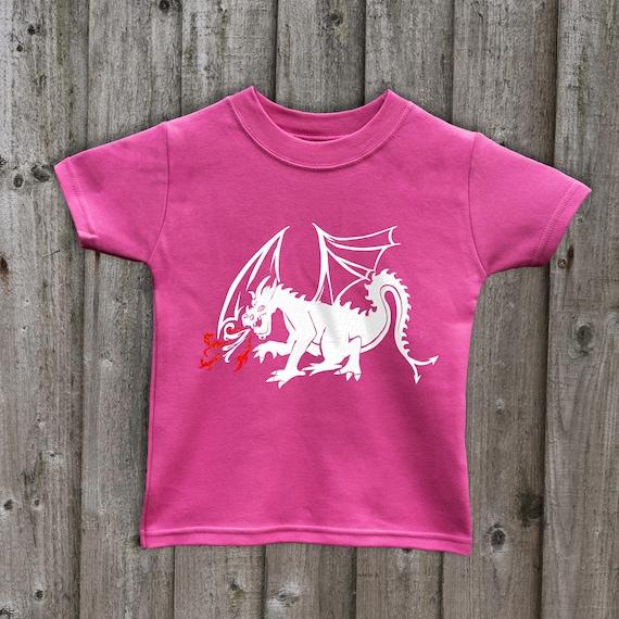 Inda-Bayi Baby-Toddler-Kids Cotton Long Sleeve T Shirt red Dragon