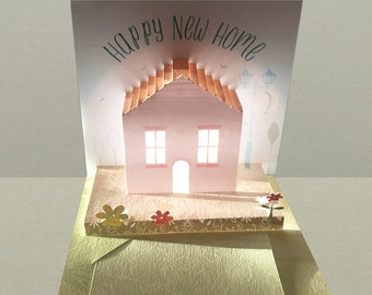 Pop up Glow 'New Home' Card!