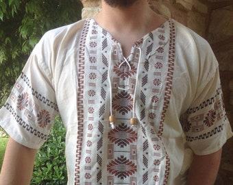 2fe45a463b9 Mexican Men Shirt-Bohemian Men's Shirt- Boho Hippie Men Shirt- Embroidered  Men Shirt- Men Guayabera Shirt