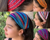 Mexican Headband- Headband For Girls- Mexican Bandana-Elastic Headband-Head band Piece-Head Wrap-Colorful Headband