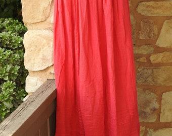 635214b004 Mexican Skirt- Handmade Skirt- Boho Skirt- Hippie Skirt- Frida Kahlo Style  Skirt- Long Skirt- Mexican peasant cotton skirt- Salmon Skirt