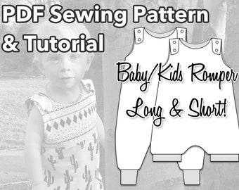Baby Clothes Pattern, Romper Sewing Pattern, Baby Sewing Pattern, Baby Sewing Pattern, Baby Romper Pattern,  Playsuit Baby Pattern, Toddler