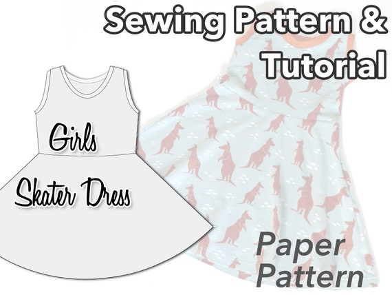Girls Skater Dress Sewing Pattern Baby Girl Baby Clothes