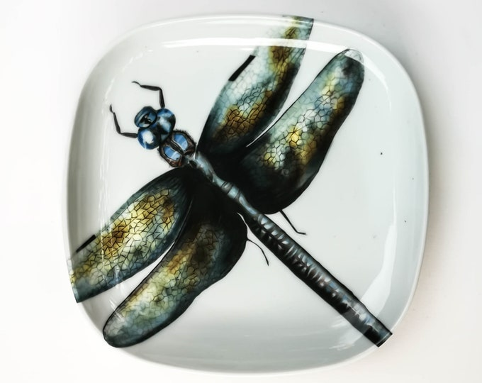 Featured listing image: Dessert dish Libelula / Plate Dragonfly