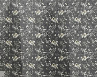 Tejido de algodón 100%  basic margaritas pirate black / pure cotton fabric basic daisy pirate black