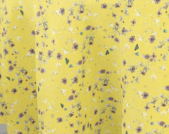 Tejido de algodón 100%  amarillo primavera / pure cotton fabric yellow spring