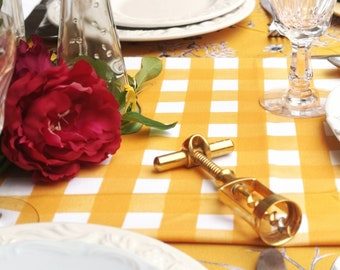 Mantel rectangular Margaritas Mostaza / moustard daisies flowers Rectangular Tablecloth