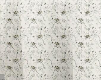 Tejido de algodón 100%  basic margaritas marshmallow / pure cotton fabric basic daisy marshmallow