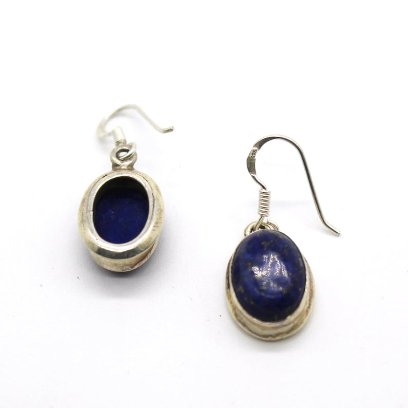 Lapis Blue Necklace Emerald Stone Authentic Women/'s Silver Ring Earring Set FREE SHIPPING