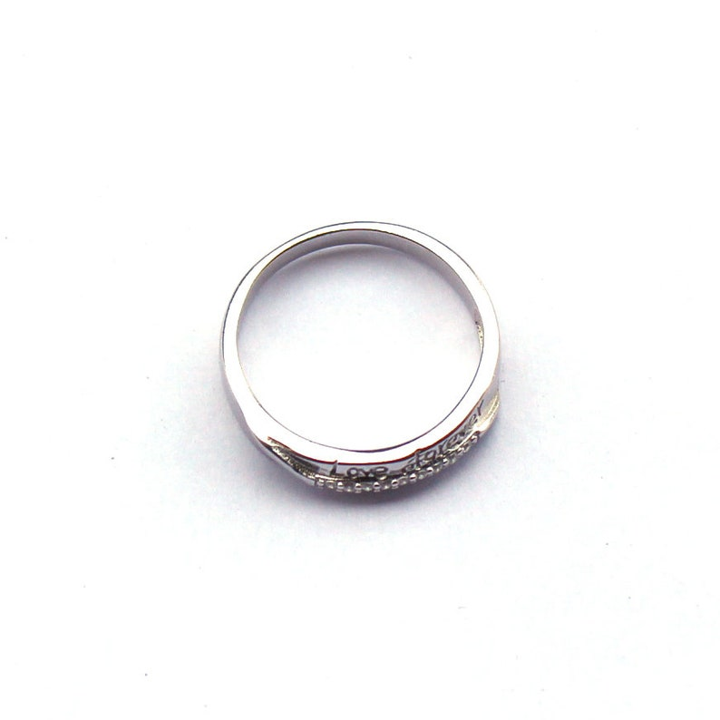 Anniversary Band. Love Band Forever Band Couple/'s Band Promise Band 4mm Simulated Diamond Band Sterling Silver 925 Band