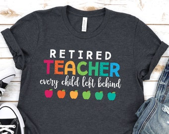 Wine Glass Goblet Funny Retired Teacher Every Child Left Behind 17 oz Stemless