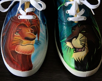 b7a624e574 Hand painted The Lion King shoes - women s size 10