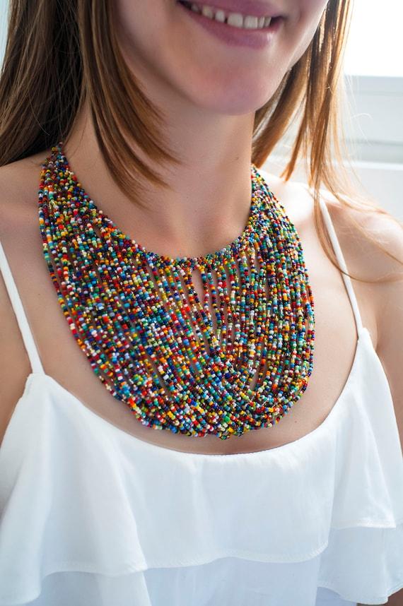 Boutique en ligne 7ed78 bac59 collares artesanales, mostacilla, arte, color, hecho a mano
