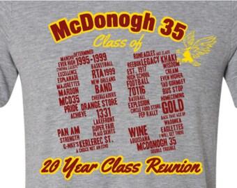 1f5de467 McDonogh 35 Class of 99 20 Year Reunion T shirt