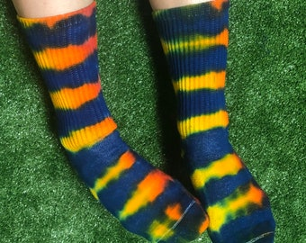 Tie Dye Crew Socks
