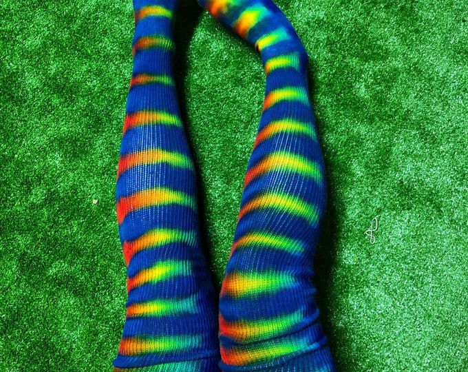 Tie Dye Thigh Highs