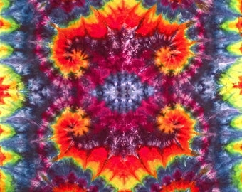 Ice  Dyed Rainbow Tapestry