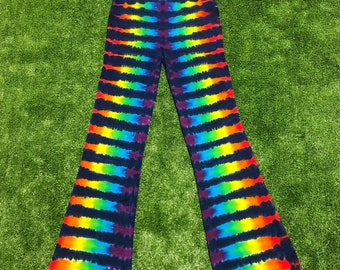 Tie Dye Rainbow Yoga Pants