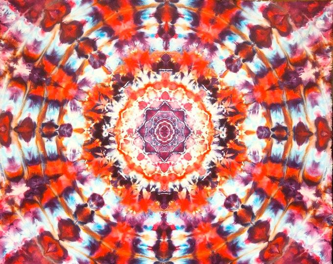 Ice Dyed Mandala Tapestry
