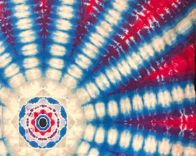 Tie Dye Mandala Tapestry