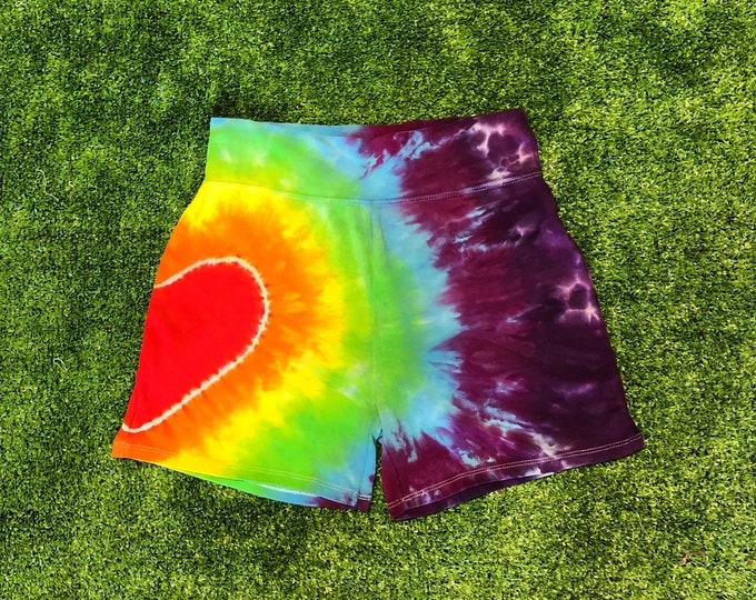 Tie Dye Heart Shorts