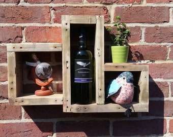Chunky Upcycled Pallet Wood Shelves
