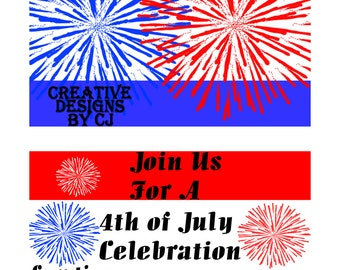 Invite/4th of July Invitation/Celebration/Party/Invitation//July 4th/Decor/Fireworks/BBQ/Printables/Independence Day Invitation