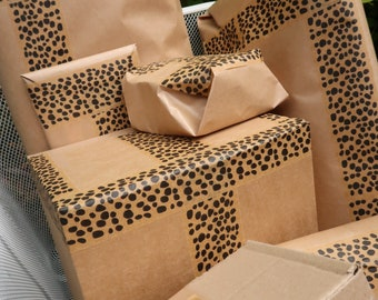 Paper Tape - Brown Kraft Paper Tapes and Packaging Tapes. Patterned Designs and Plain