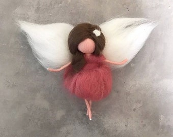 Filzfee with wing felt Angel Needle felted Waldorf inspired decoration