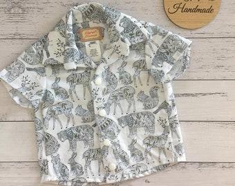 Animals Collared Shirt