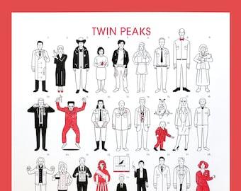 Twin Peaks [A3 Riso Print]