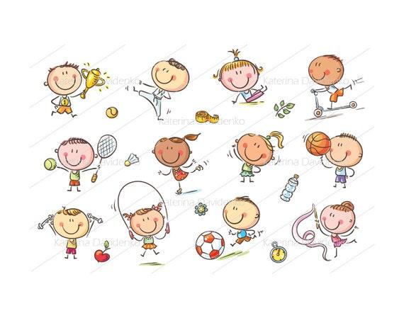 Kids And Sport Sport Clipart Kids Activities Activities Etsy