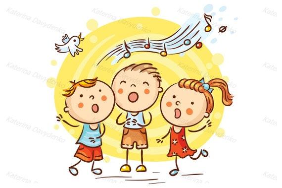 Children singing songs. Education clipart teaching clipart ...