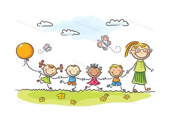 Znalezione obrazy dla zapytania kindergarten kids grafika