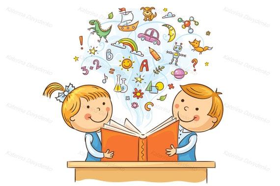 Kinder Die Zusammen Ein Buch Zu Lesen Bildung Clipart Kinder Die Lesen Lehre Clipart Clipart Schule Schüler Schüler Mädchen