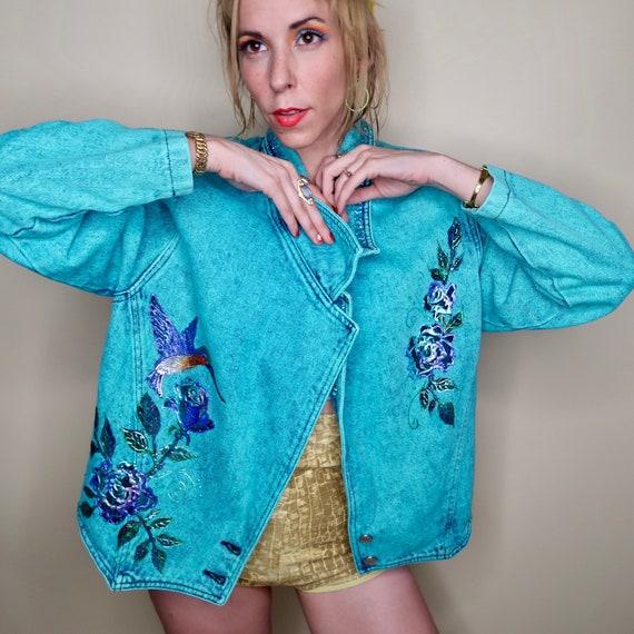 Carol Wilcher Original Hand Painted Denim Jacket