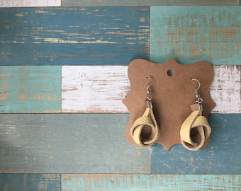 Handmade Leather Knot Earrings