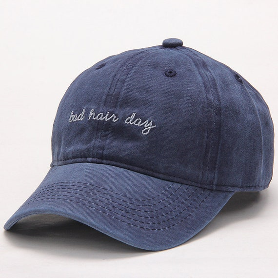 Dad Hat Washed Blue Bad Hair Day  62c9011b059