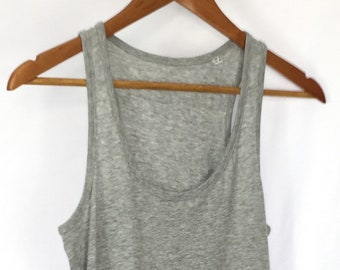 a21751959ab47 Organic Cotton Racerback Tank Top - Grey Fitted Tank Top