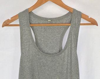69c23451876e8 Organic Cotton Racerback Tank Top White Fitted Tank Top