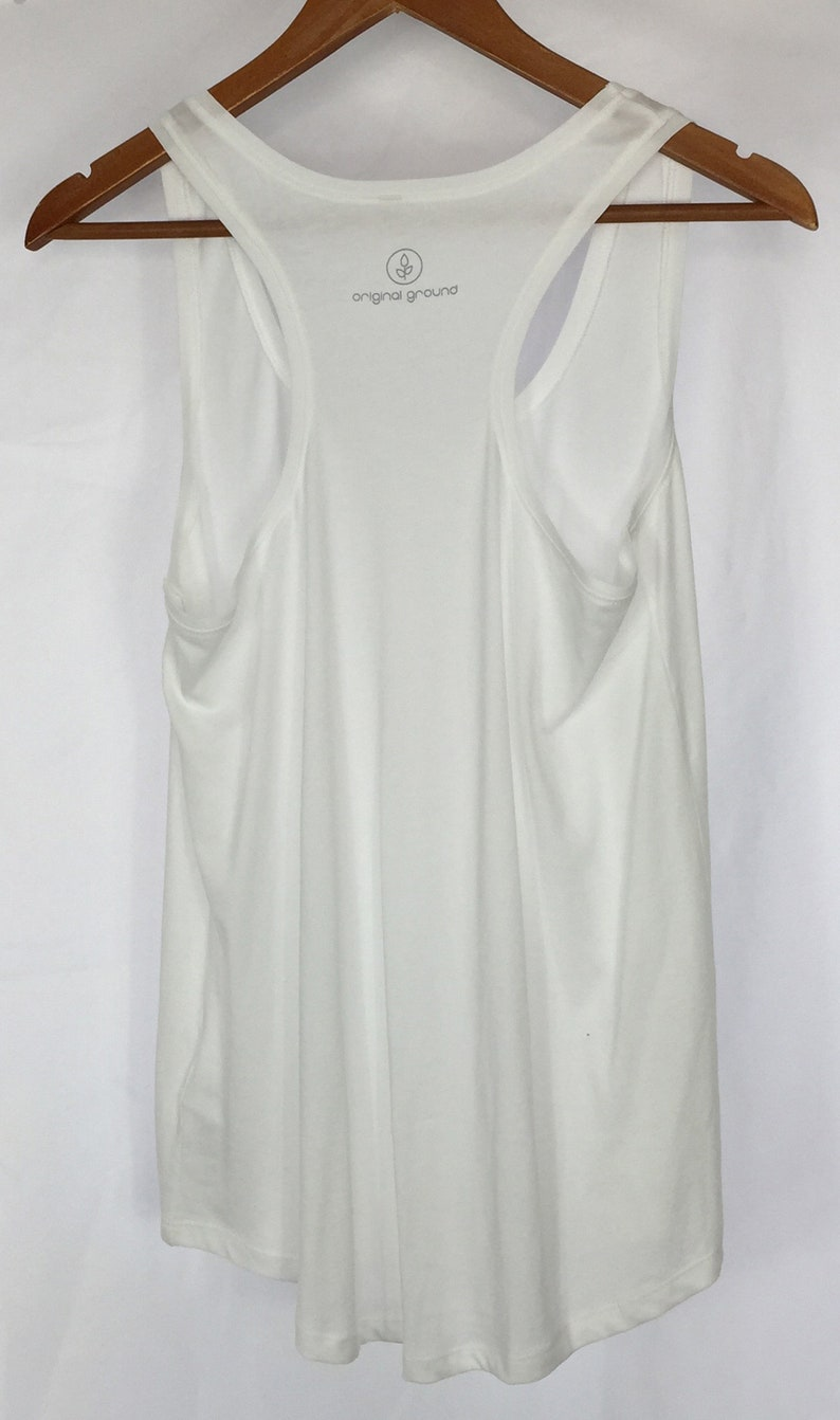 1d715c3ec4c75 Organic Cotton Tank Top White Tank Long Loose Fit