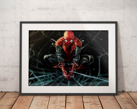 Spiderman poster Spiderman print wall art home decor | Etsy